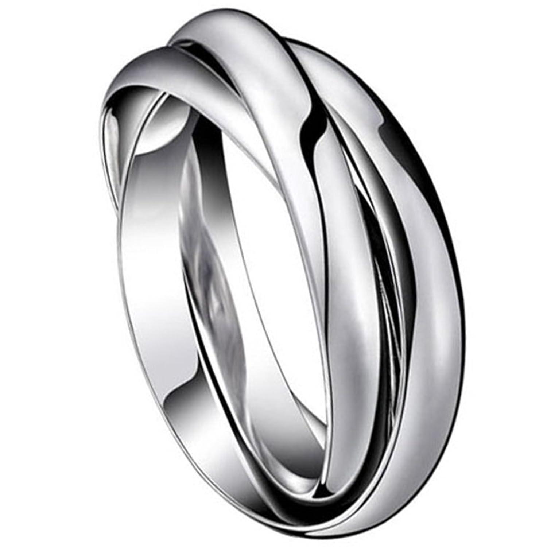 vasta gamma moda raccolto Vnox Anello in acciaio inossidabile in tre colori combinati ...