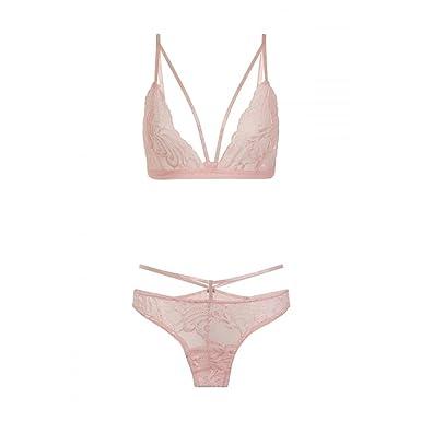Little Mistress Womens Ladies Pink Underwear Set  Amazon.co.uk  Clothing f052b341e7