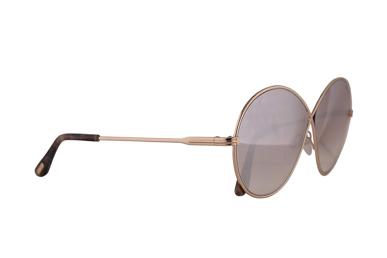 TOM FORD Women/'s Silver Rania Sunglasses w//case TF 564//S 18C 64mm