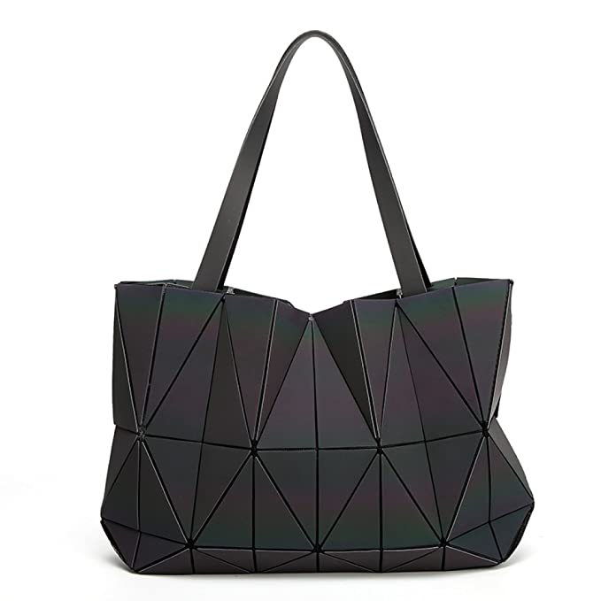Ms. Láser Luminoso Bolsa De Diamantes Costura Geométrica ...
