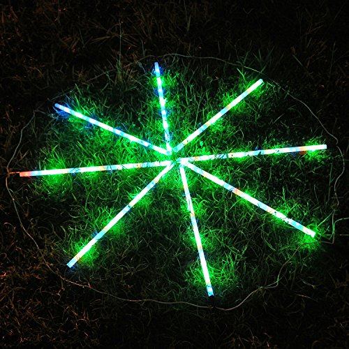 Solar String Lights Outdoor,iThird Solar Powered 8 Modes Color Changing Fairy Lights for ...