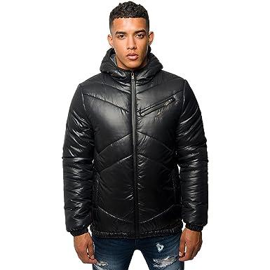 S Designer Puffer Coats | Kangol Mens Designer Puffer Jacket Zip Up Hooded Quilted Bubble