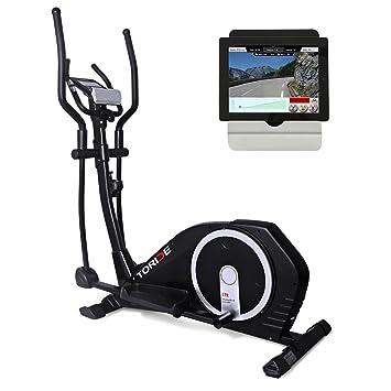 TORIDE Bicicleta de ejercicios elíptica / entrenador elíptico con Google Street View, aplicación para teléfono