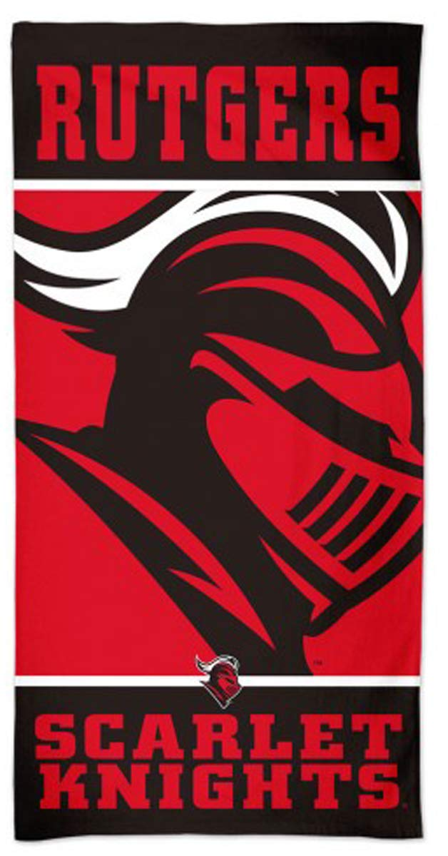 30 x 60 inches WinCraft Rutgers Scarlet Knights Beach Towel with Premium Spectra Graphics