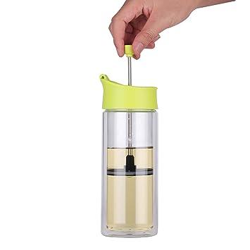 444 ml prensa francesa café té realmente taza de té de cristal de borosilicato tetera juego de té: Amazon.es: Hogar