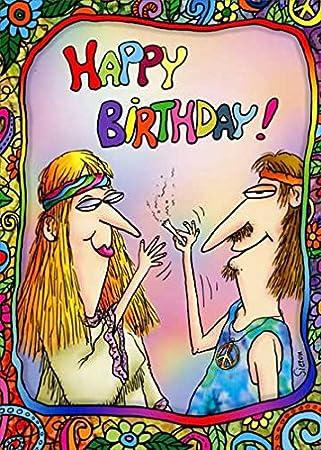 Amazon.com: Stoned Hippies Oatmeal Studios Funny tarjeta de ...