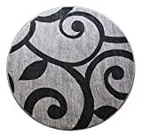 Cheap Masada Rugs Modern Round Area Rug Bellagio Gray (5 Feet 3 Inch X 5 Feet 3 Inch) Round