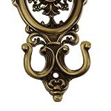 KELER 2 pcs Vintage Oval Curtain Hanger Tie Back