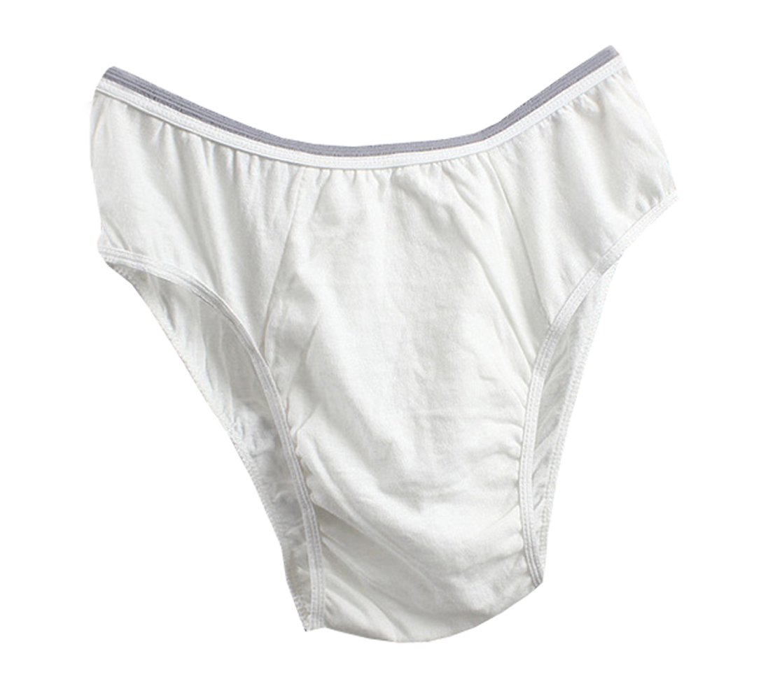 Peacewish Quality Cotton Men's Disposable Underwear Travel Outdoors Specialized Briefs 12PCS (White, 2XL) by Peacewish (Image #1)