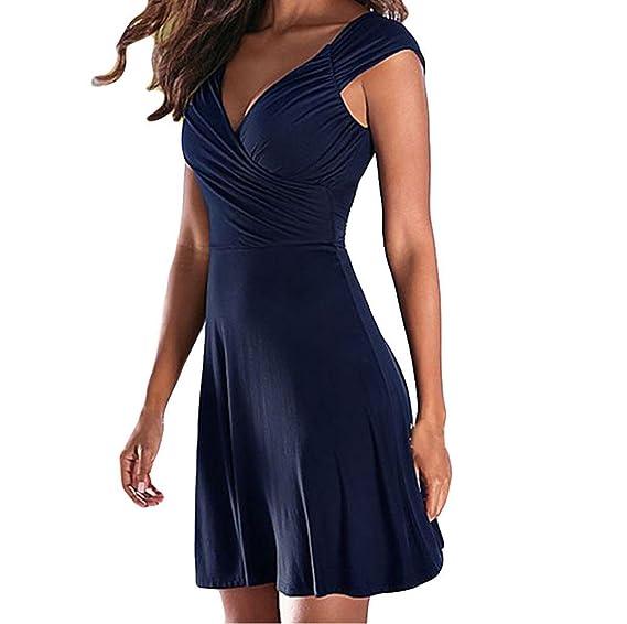 ❤ Vestido de Fiesta para Mujeres, Vestido de Noche sin Mangas con Cuello en V y Vestido de Fiesta Absolute: Amazon.es: Ropa y accesorios