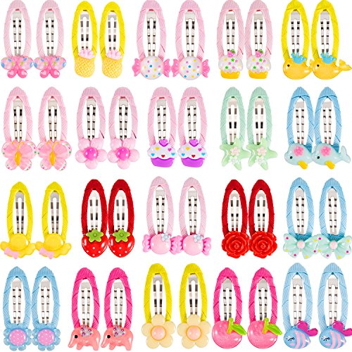 Maxdot 40 Pieces Cartoon Hair Clips Barrettes for Toddlers Girls Kids Hair Accessories by Maxdot