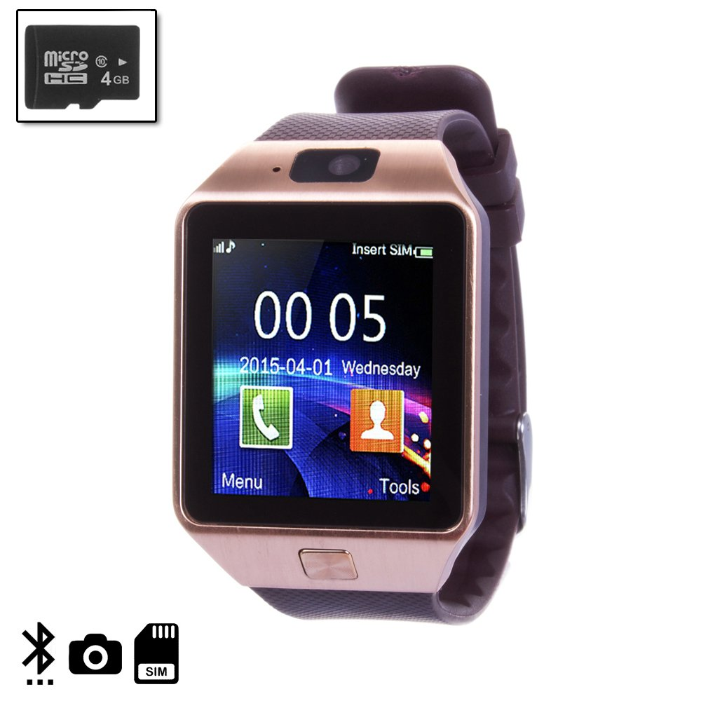 Silica DMN236 marrón4 - Smartwatch tekkiwear Dama n236 marrón con Micro SD de 4gb Clase 4, Color marrón