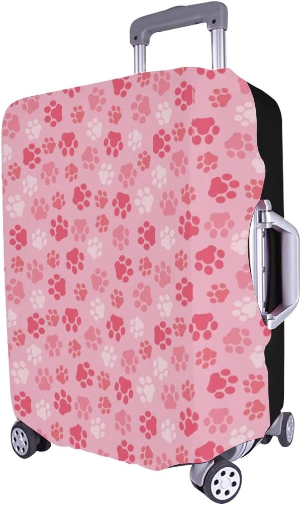 Animal Footprints Spandex Trolley Case Travel Luggage Protector Suitcase Cover 28.5 X 20.5 Inch