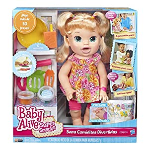 Baby Alive Super Snacks Snackin Sara Blonde Amazon Co Uk