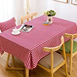 HOMEE Lattice waterproof cloth cotton cloth round the living room coffee table Christmas decorations,D,90X140cm