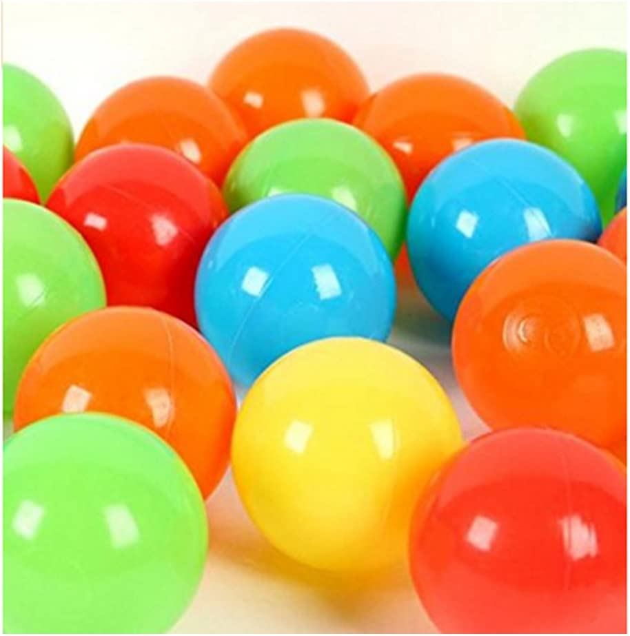 Happyear Pit Balls Colorful Fun Phthalate Free BPA Free Crush Proof Balls Soft Plastic Air-Filled Ocean Ball Playballs for Baby Kids