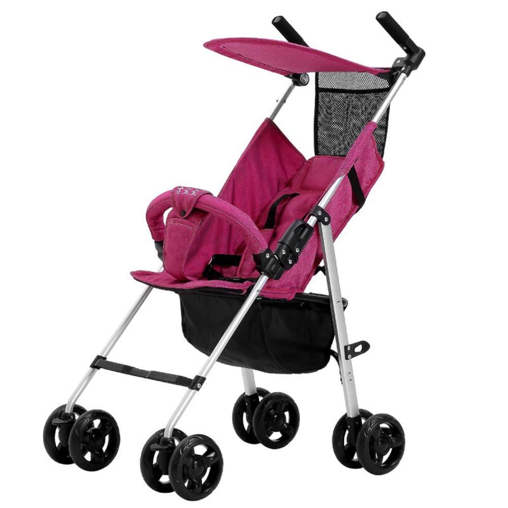 旅行ベビーカー軽量折りたたみ式、携帯用ベビーカー、軽量/折りたたみ式/通気性/日焼け止め - (0-3歳),Purple  Purple B07PXCDSSJ