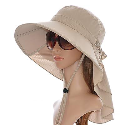 Xing Han Chapeau De Plage Été Mme Sun Hat Chapeau De Soleil Chapeau De Soleil Cool Plage Plage Extérieure Pliable Uv, Kaki
