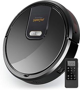 Robot Aspirador Superchef Smart Clean SF421, 4 en 1 Aspira, Barre,Friega y Pasa la Mopa, Navegación Inteligente Gyroscopica, Batería de Litio 2600mAh, anticaída, Silencioso.: Amazon.es: Hogar