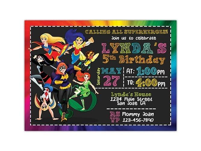 DC Superhero Girls Birthday Party Invitations ANY AGE Custom