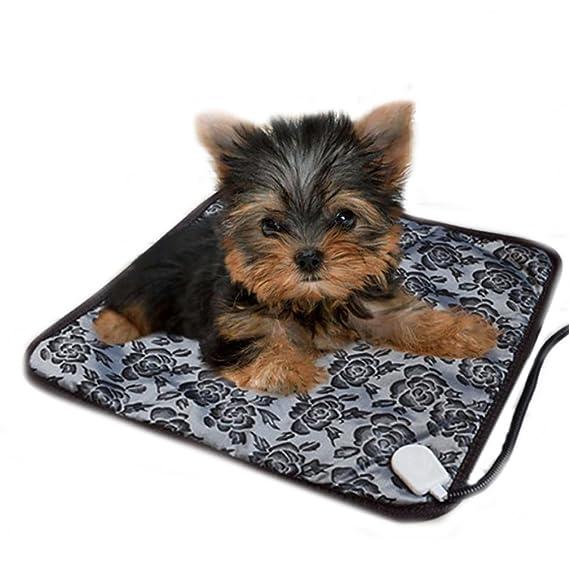 mascotas perros accesorios deportiva perros cama de perrito almohadilla caliente Sannysis Almohadillas térmicas eléctricas ajustable a