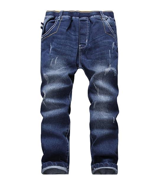 YoungSoul Vaqueros para niño - Jeans Ajustados con roturas ...