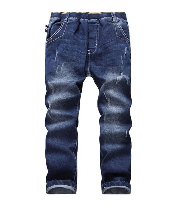 YoungSoul Jungen Jeanshosen - Jeans mit Abschürfungen - Kinder Hose mit elastischem Bund Gr. 104-176