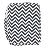 Bible Cover, Colorful Chevron Book Cover with Pockets and Handle, Covers for Women, Teens, Girls (Black)