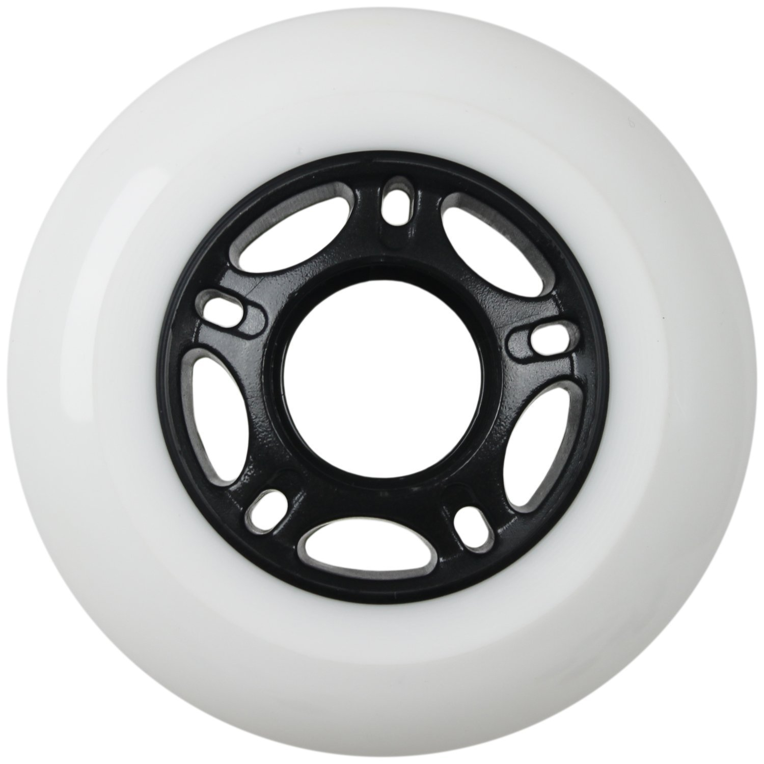 Players Choice Outdoor Inline Skate Wheels 80MM 89a White x8 W//ABEC 9 Bearings