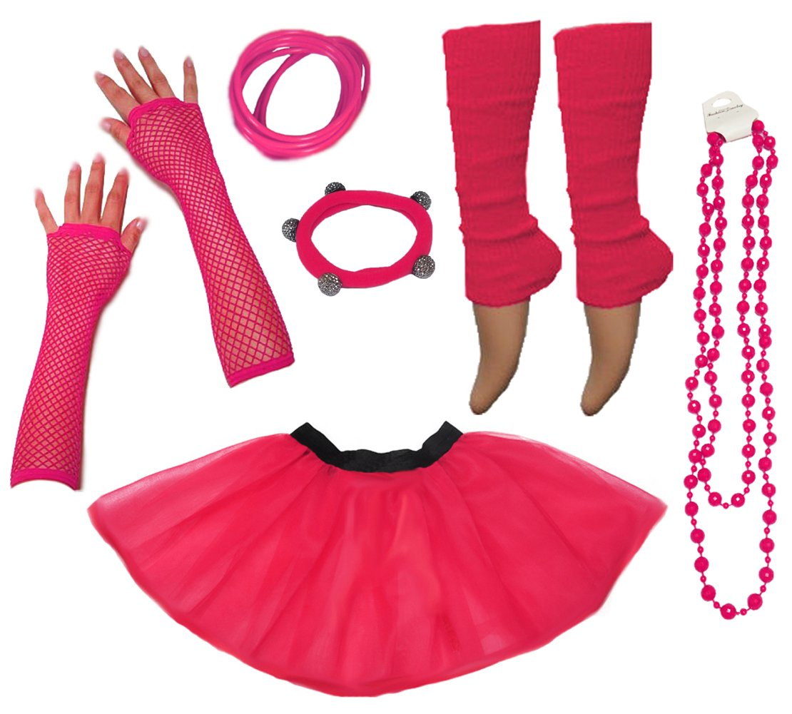 Neon Tutu Skirt, Leg Warmers, Gummies, Beads - 10 Colours - Sizes from 8 to 24