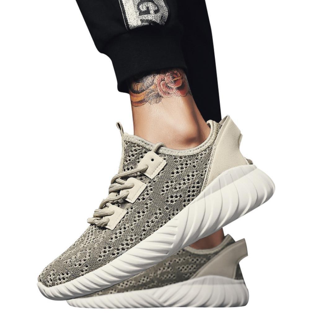 QMBER❤ Turnschuhe Herren,Herren Fashion Color Atmungsaktive Mesh Crossover Krawatte Sneakers Schuhe Schuhe