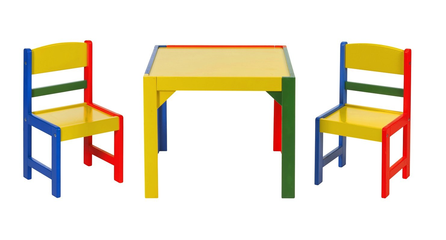 Impag - Lätt 1 mesa + 2 sillas payaso de pino madera maciza ...