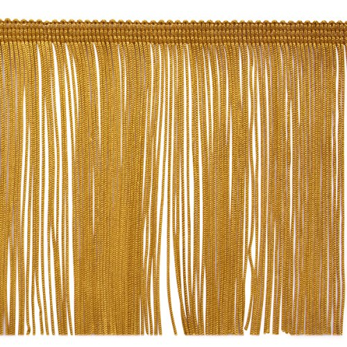 Taupe 5 yd x 6 Expo International 5 Yards of 6 Chainette Fringe Trim
