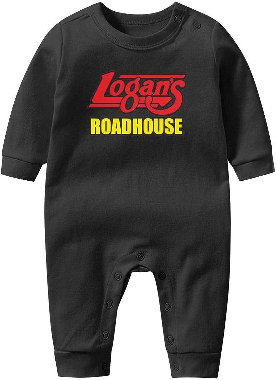 Baby Boys Girls Long Sleeve Baby Onesie Babys Creeper NAKHFBVi Logans-Roadhouse-Logo-Symbol
