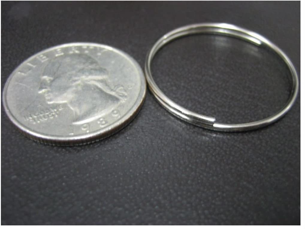 1.1mm x 28mm//New Lot 1000 pc 1 Bulk Split Rings //Locksmith Give Away Keyrings