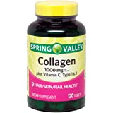 Spring Valley Collagen 1,000mg Per Tablet, Plus Vitamin C, Type 1 & 3