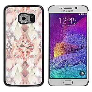 TopCaseStore / la caja del caucho duro de la cubierta de protección de la piel - Vintage Floral Bright Wallpaper Pattern - Samsung Galaxy S6 EDGE SM-G925