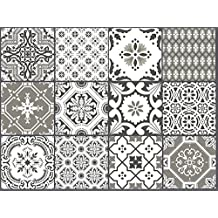 SnazzyDecal Wall Tile Decal Stickers Portugal Mix 12x12in Peel and Stick for kitchen or bath Pmix5G-12 12pcs