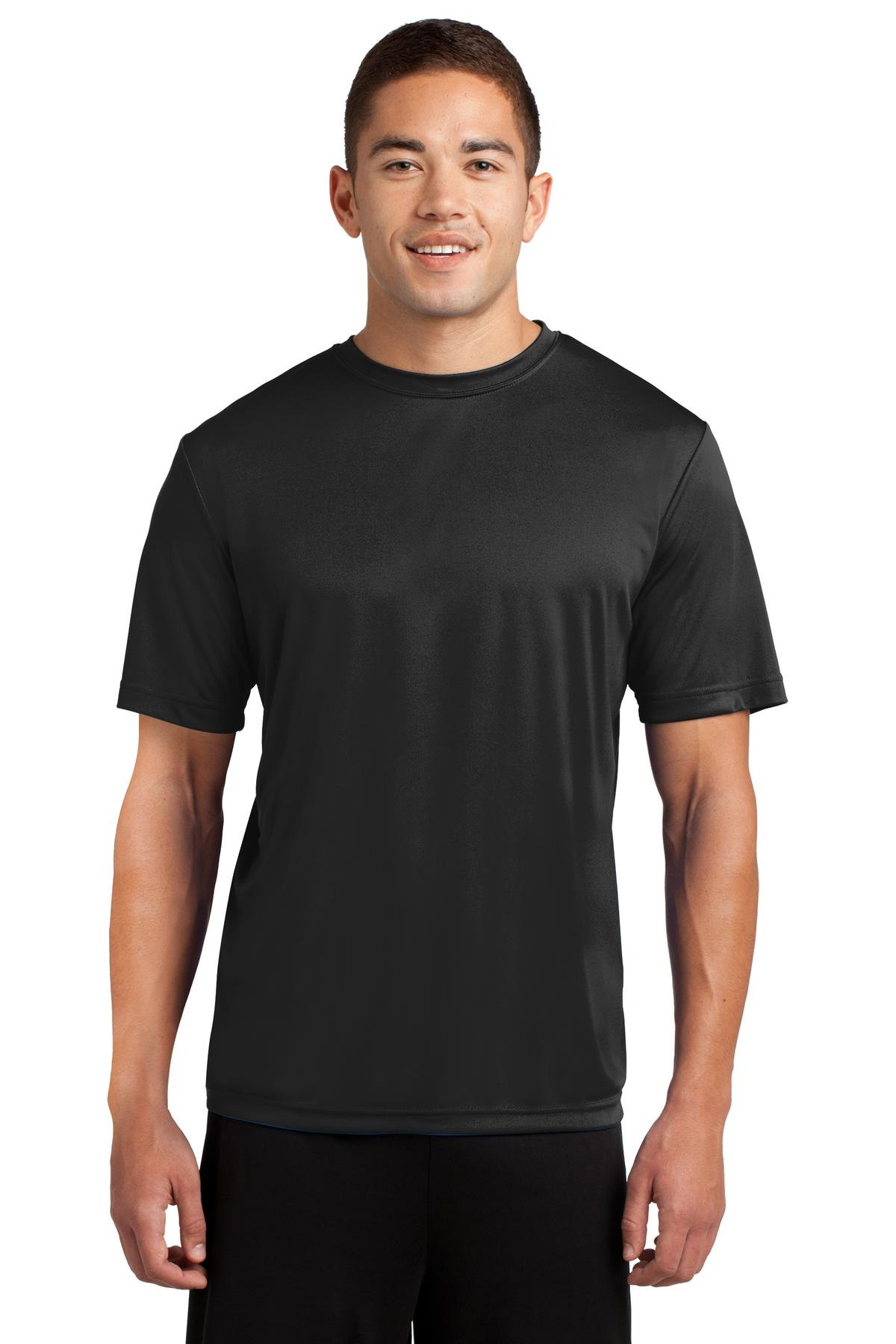 Dri-Tek Mens Big & Tall Short Sleeve Moisture Wicking Athletic T-Shirt, XLT, Black
