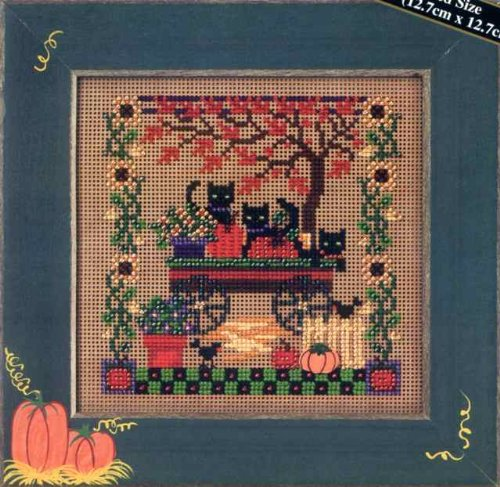 Scaredy Cats Cross Stitch Kit (Stitch Cat Cross Black)