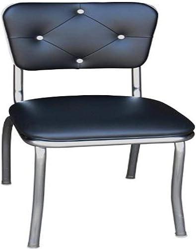 Richardson Seating Black Button Tufted Retro Kitchen Chair