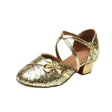 eb4f1cf747bd YYF Fille Enfant Ballerine Sandale Confortable Chaussure de Ballet a Talon   Amazon.fr  Chaussures et Sacs