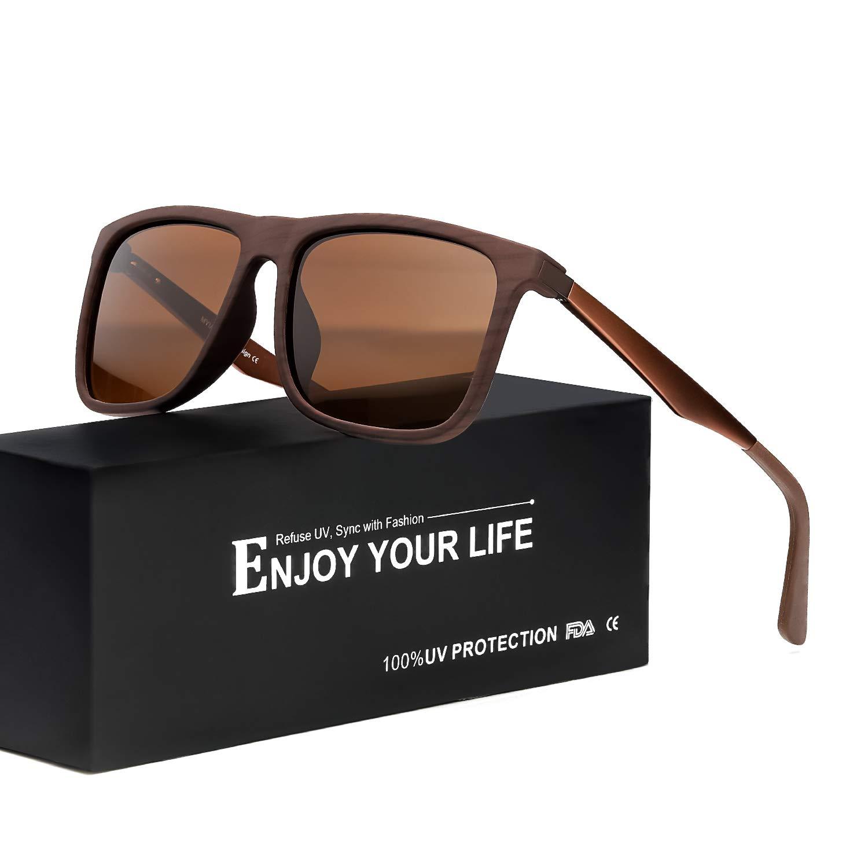 17761ccb58 Mens Sunglasses Polarized Lens for Driving 100% UVA UVB Protection