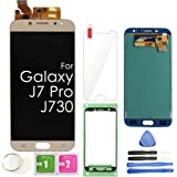 J7 PRO LCD Screen Replacement Touch Display Digitizer Assembly (Gold) for Samsung Galaxy J7 Pro J730 2017 J730G J730F SM…