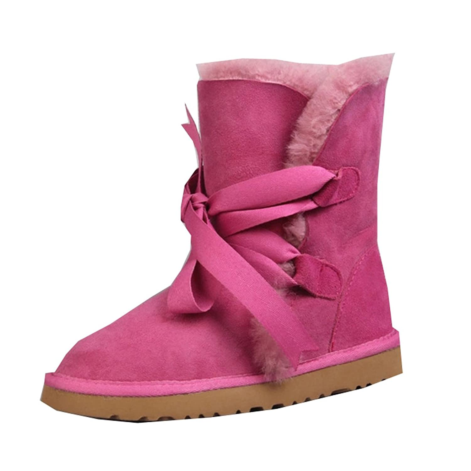 Pinklily Women's Insulation Round Toe Snow Boots