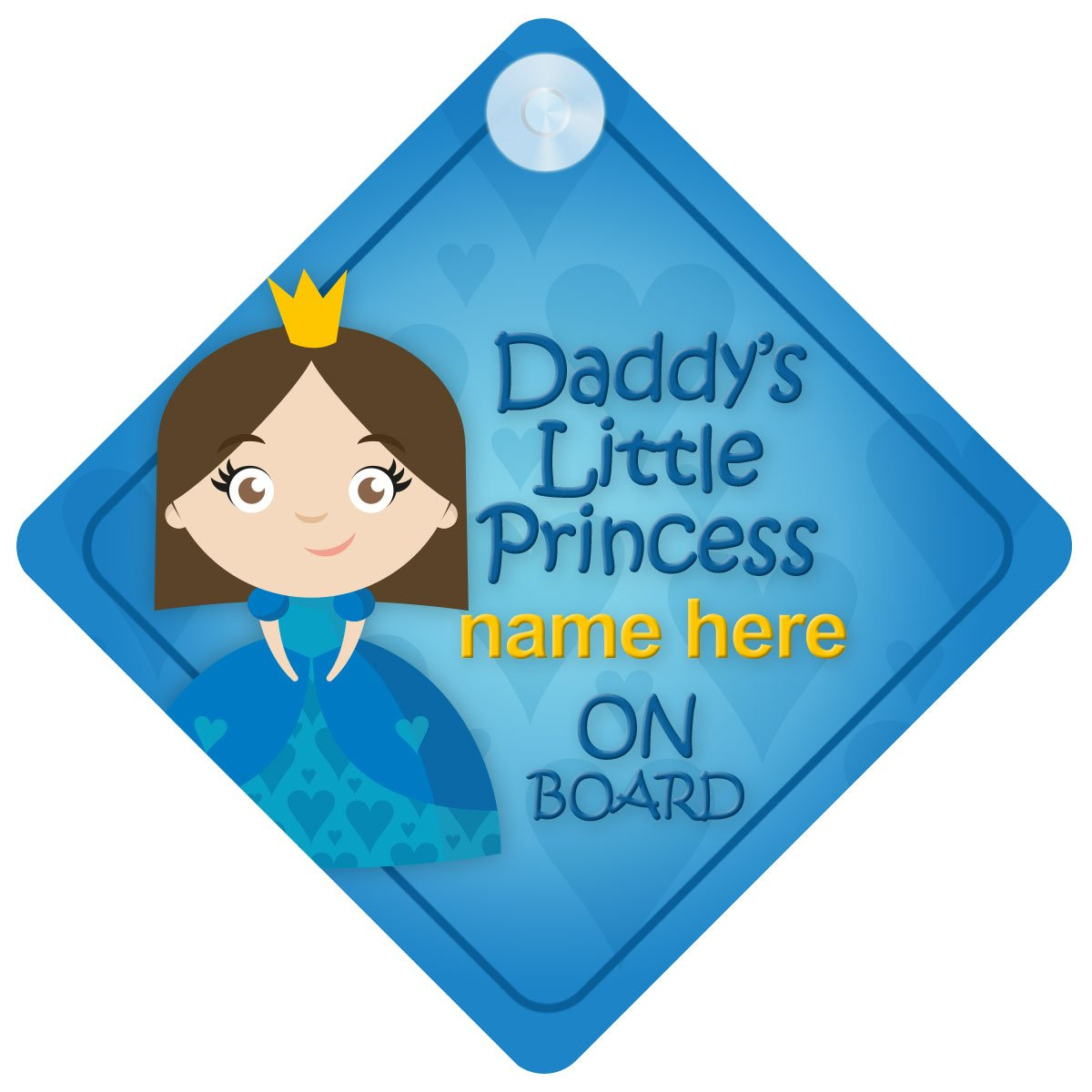 Daddy's Little Princess On Board Personalised Car Sign New Baby Girl/Child Gift/Present DLP014