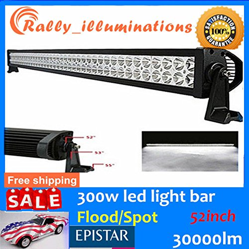 52''300W FLOOD/SPOT COMBO LED Work Light Bar Offroad Driving Lamp SUV Car Boat4WD by #FollowMe