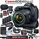 Canon EOS 6D Mark II DSLR Camera Kit with 24-105mm IS II USM Lens + Canon BG-E21 Grip / Power Bundle