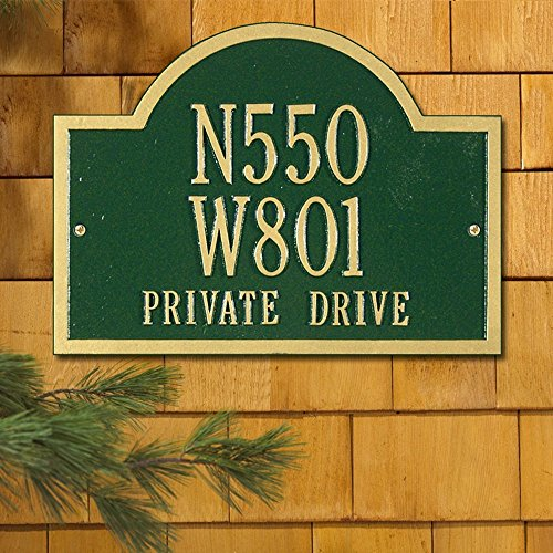 Whitehall Wisconsin Custom Wall Three Line Address Plaque - (Address Plaque Three Line)