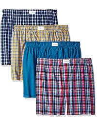 Tommy Hilfiger mens 4 Pack Woven Boxer